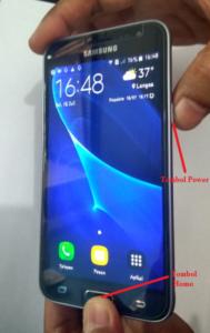 Cara Screenshot HP Samsung Galaxy