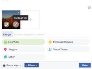 Cara Update Status Facebook Dengan Background Gambar