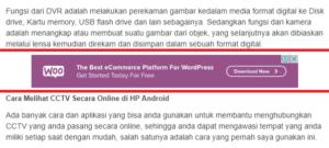 Cara Memasang Iklan Adsense di Tengah Postingan blogspot