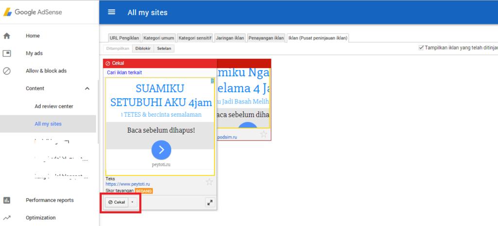 Cara Memblokir Iklan Dewasa di Google Adsense