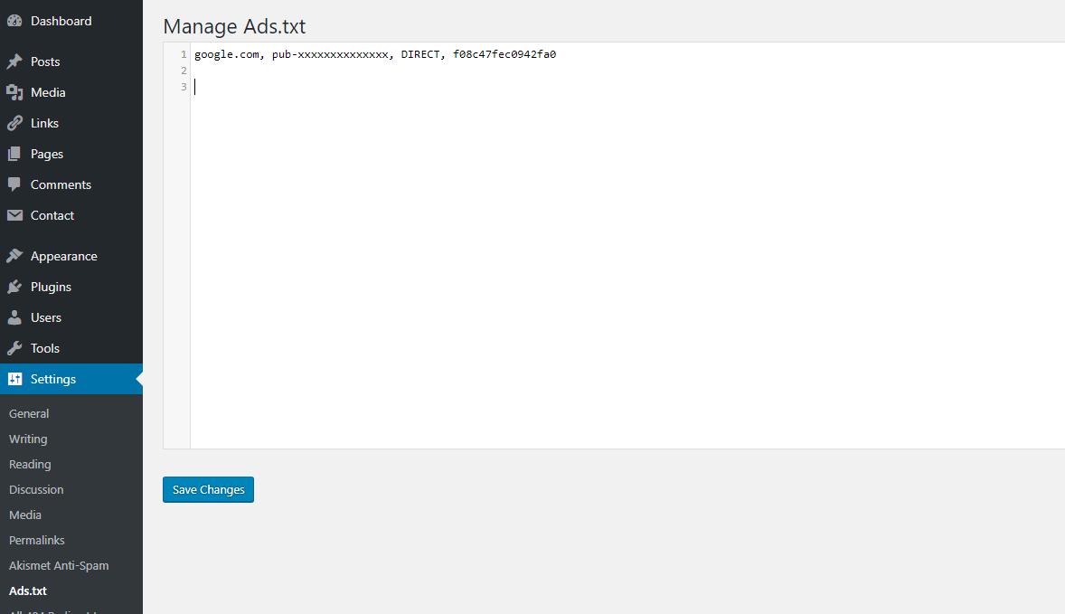 Cara Memasang Kode Ads txt Google Adsense