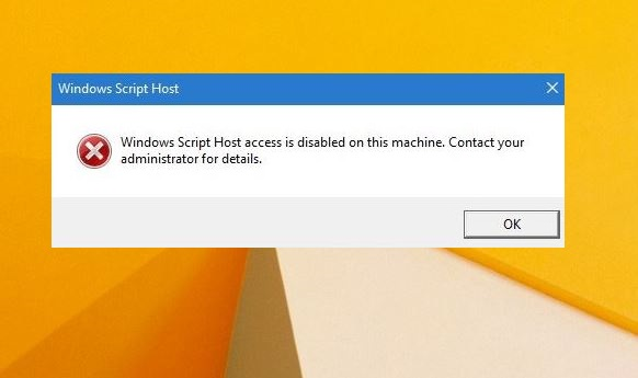 Mengatasi Windows Scripts Host