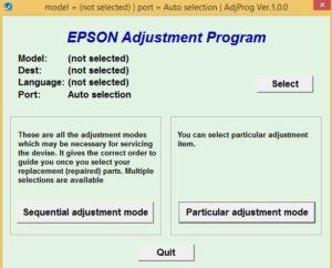 Reset Printer Epson L380