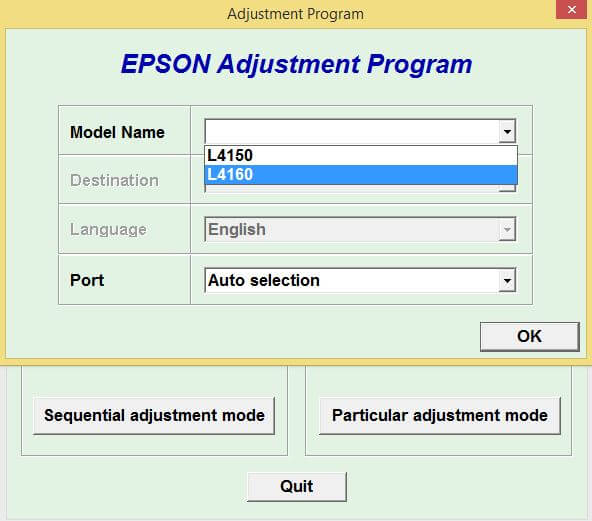 Resetter Epson L4150 L4160 Adjustment Program Gratis