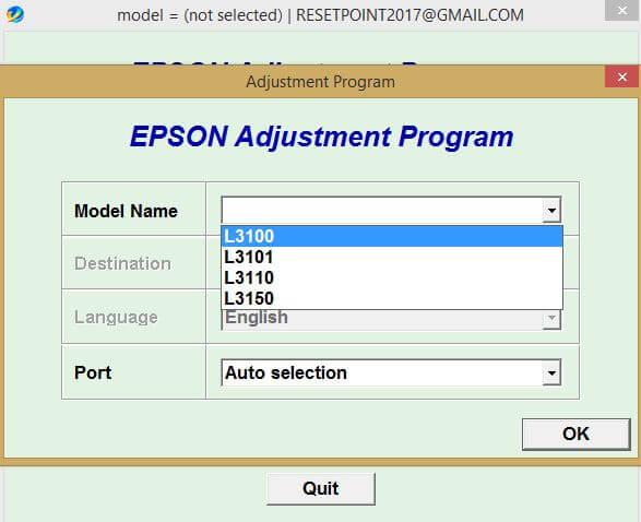 Gratis Download Resetter Epson L3100 L3110 L3150 L3001