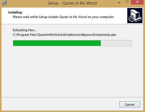 Cara Install Quran in Word di Microsoft Word