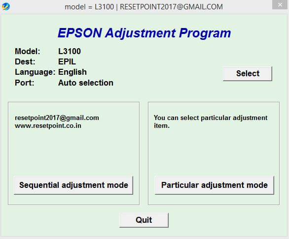 Download Resetter Epson L3100-L3150