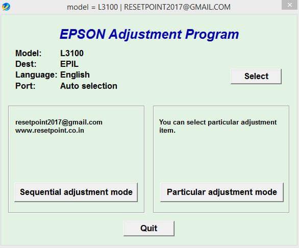 Download Resetter Epson L3100-L3150