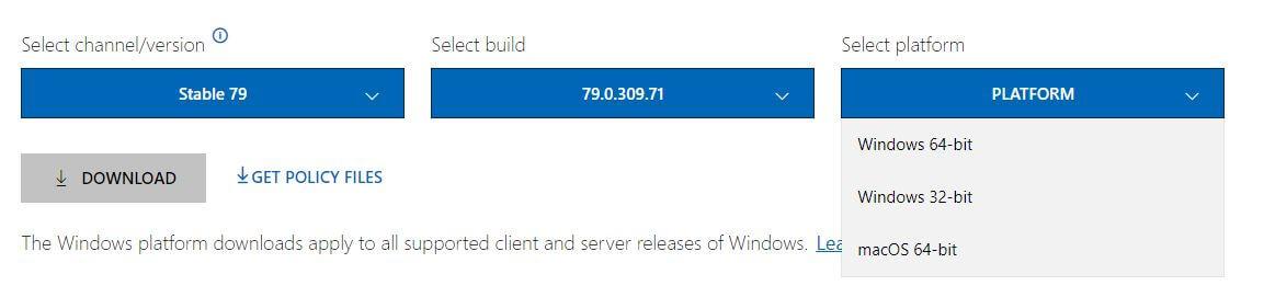Download Microsoft Edge Chromium Offline Installer
