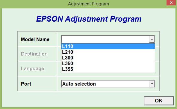 Download Resetter Epson L110-L210-L300-L350-L355