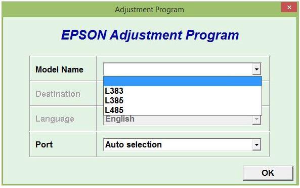Download Resetter Epson L385 L383 L485 Gratis