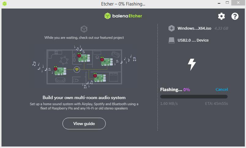 Cara Membuat Bootable di Flashdisk dengan BalenaEtcher