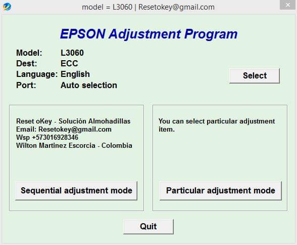 Download Resetter Epson L3060 Adjustment Program Gratis