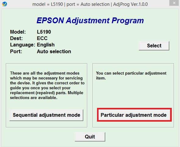 Cara reset printer epson L5190