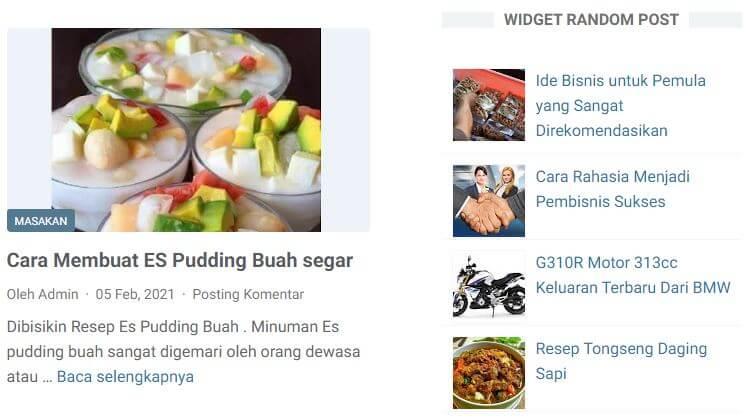 Membuat Widget Random Post di WordPress dan Blogspot