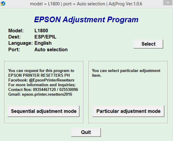 Download Resetter Epson L1800 Gratis