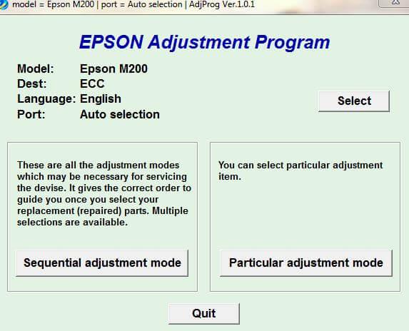 Resetter Epson M series All in One Gratis