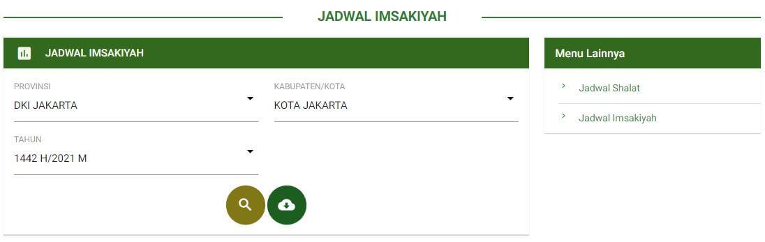 Download Jadwal Imsakiyah Puasa Ramadhan 2021
