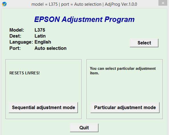 Resetter Epson L375 L475 Download Gratis