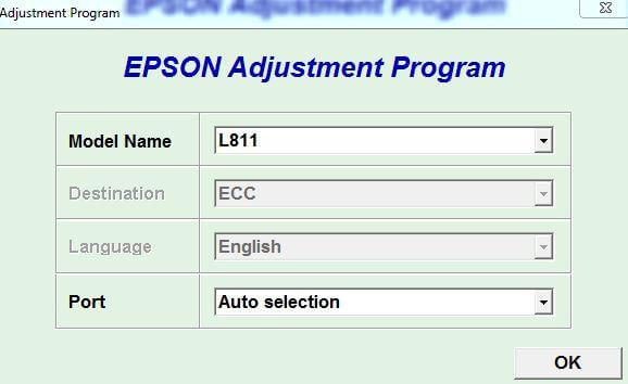 Resetter Epson L811 Adjprog Full Version